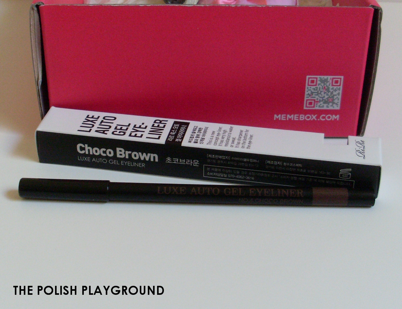 Memebox Special #17 K-Style Cosmetics Unboxing - RiRe Luxe Auto Gel Eyeliner in Choco Brown