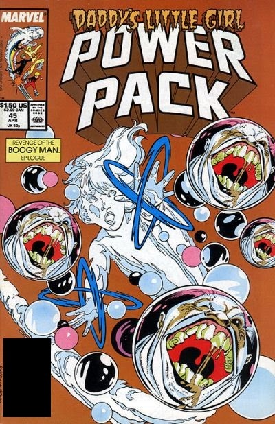 marvel comics of the 1980s 1989 anatomy of a cover power pack 45. Black Bedroom Furniture Sets. Home Design Ideas