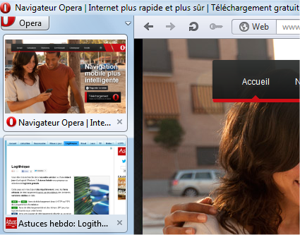 capture d'écran Opera