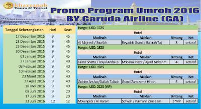 Umroh By Garuda Khazzanah / Hasanah Tour