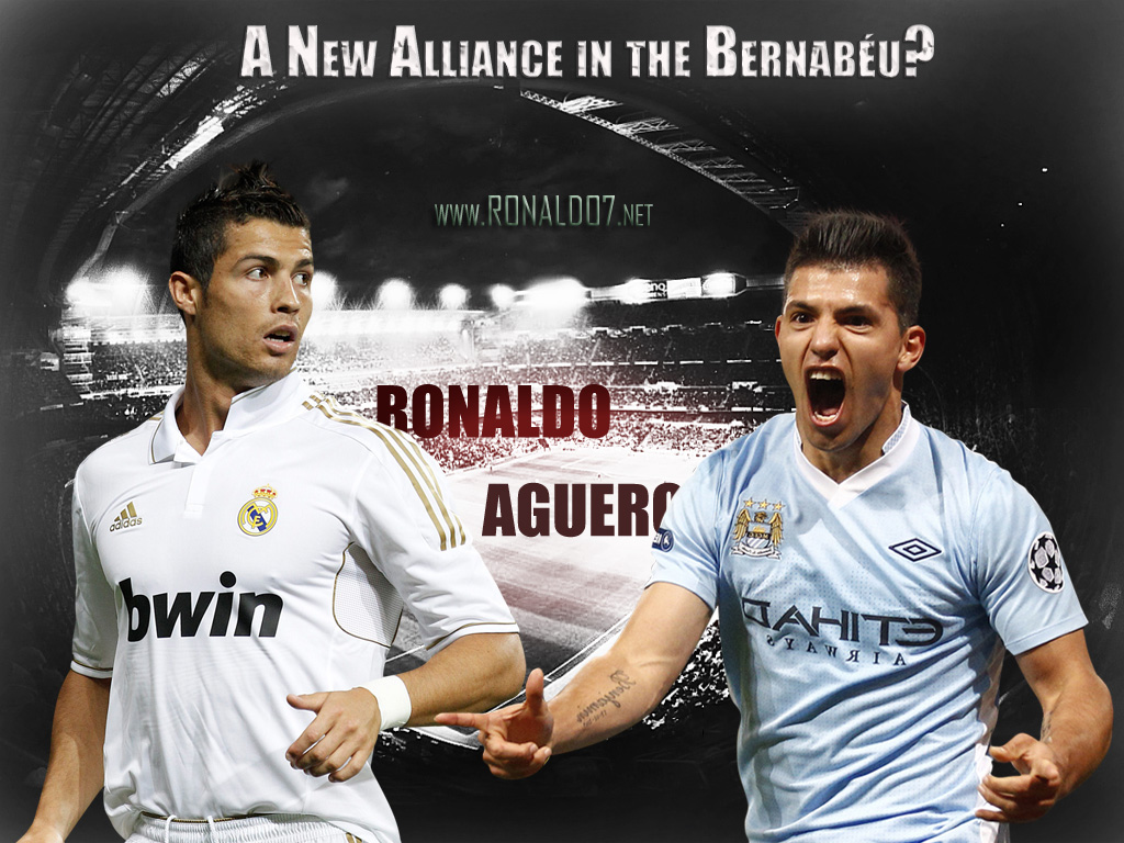 Cristiano Ronaldo Vs Aguero 2012 Wallpaper