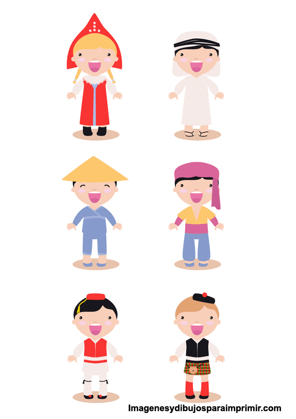 razas de niños para imprimir