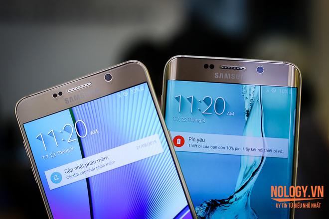 Thiết kế của Samsung Galaxy Note 5 và Galaxy S6 Edge 2 sim