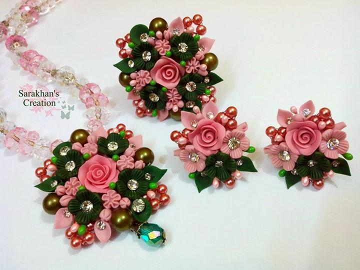 Beautiful Dough Jewellery Designs 2015 For Girls Fashion