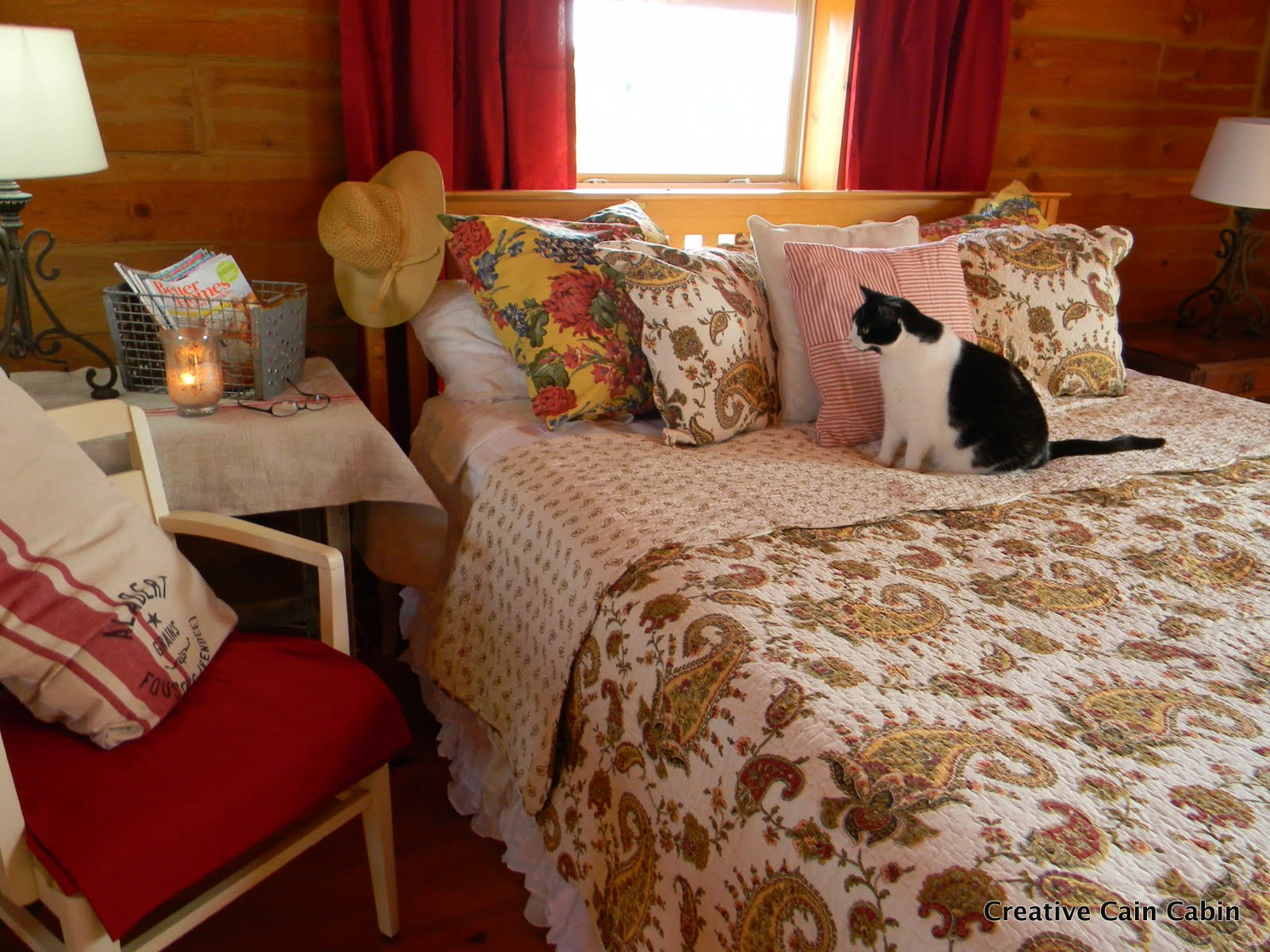 Fall Bedroom with a Ruffled Bedskirt - CREATIVE CAIN CABIN
