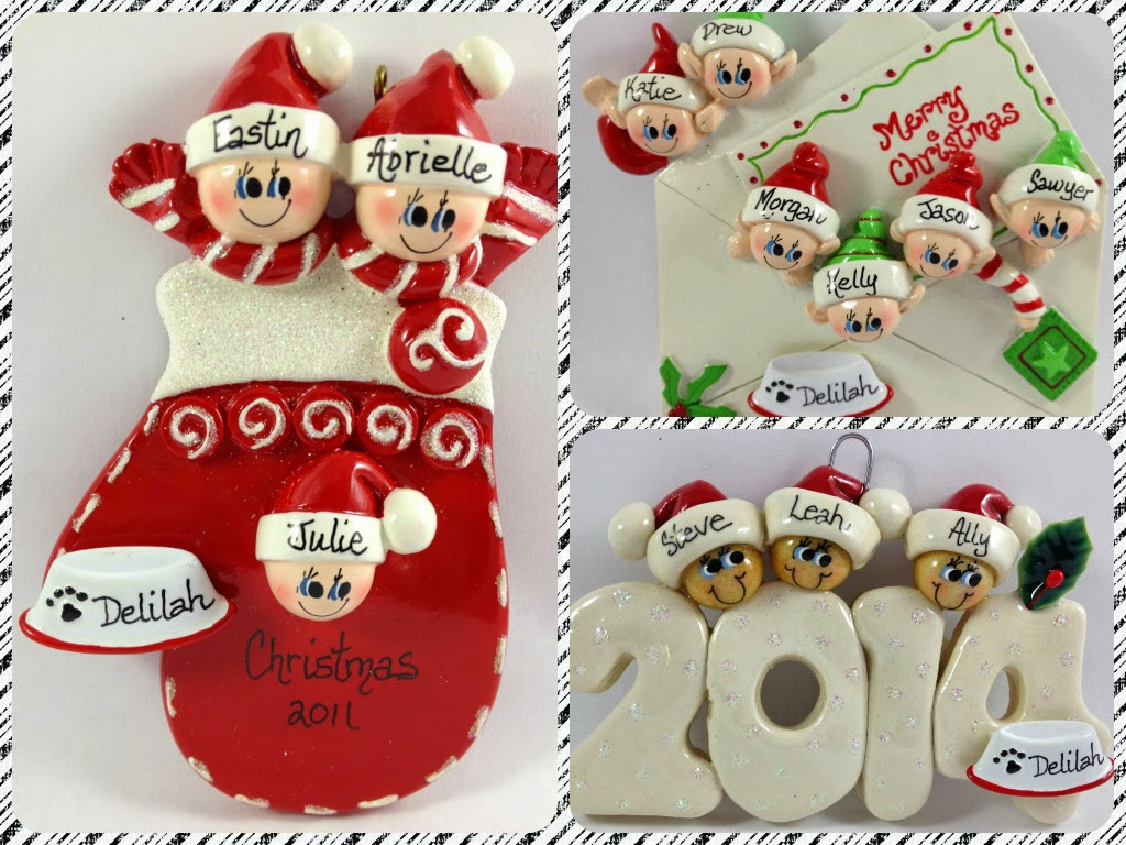 Ornaments for keeps personalized ornaments for the whole for Family christmas ornaments to make