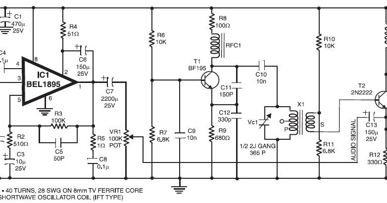 nte electronics circuit  shortwave  sw  transmitter based
