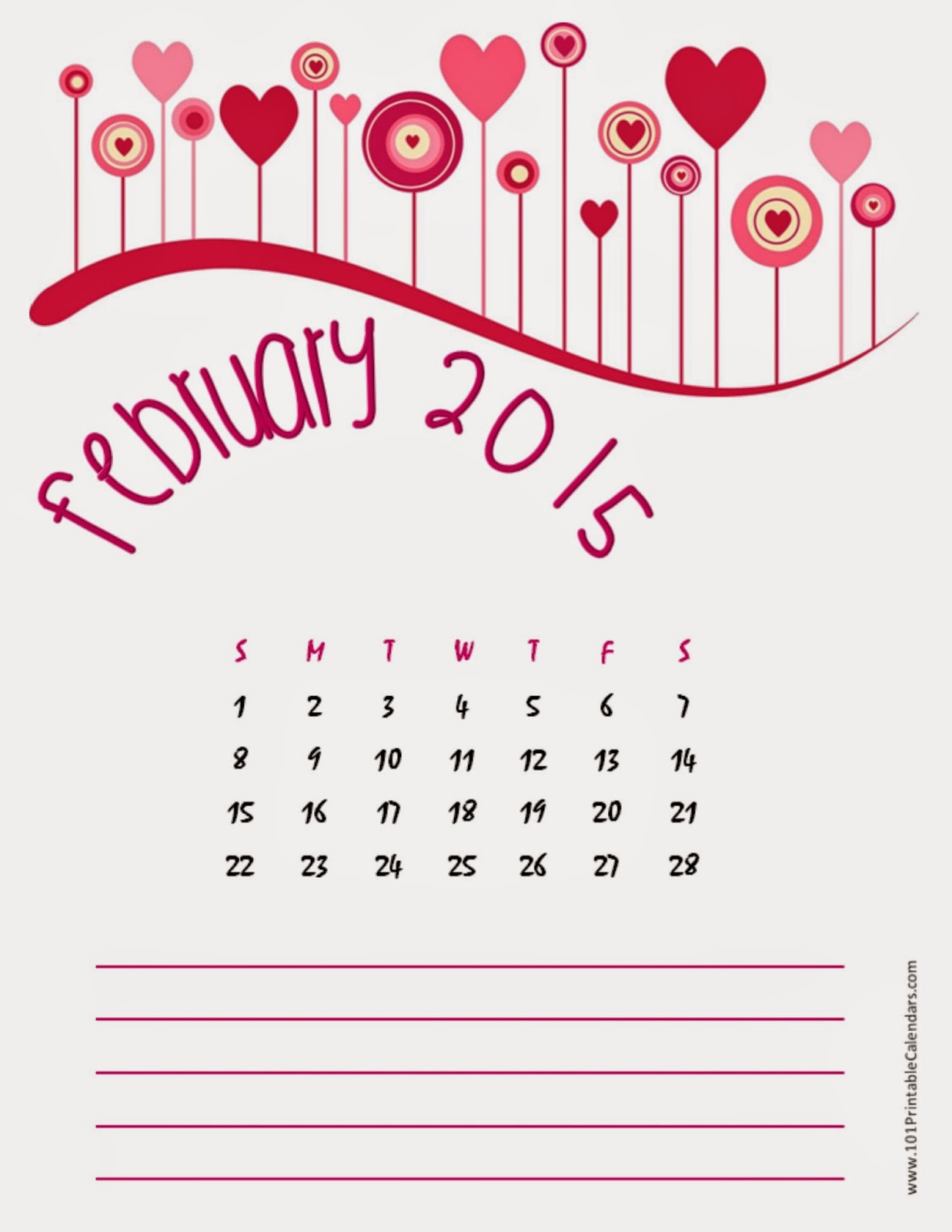 Calendar Typography Template : Free printable calendar february