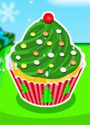 Кексы Новогодняя елка - Онлайн игра для девочек