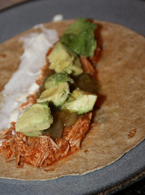 \Slow Cooker Chipotle Chicken Tacos from Kiss My Whisk featured on SlowCookerFromScratch.com