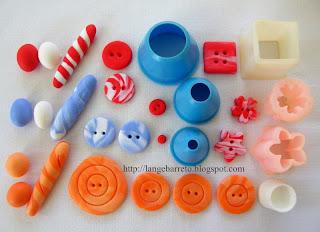 Botões porcelana fria