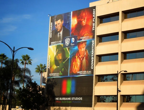 Giant DC Comics TV shows billboard
