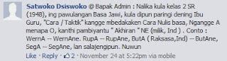 Tips penulisan bahasa Jawa