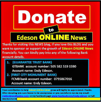 Please Donate to Edeson Online NEWS