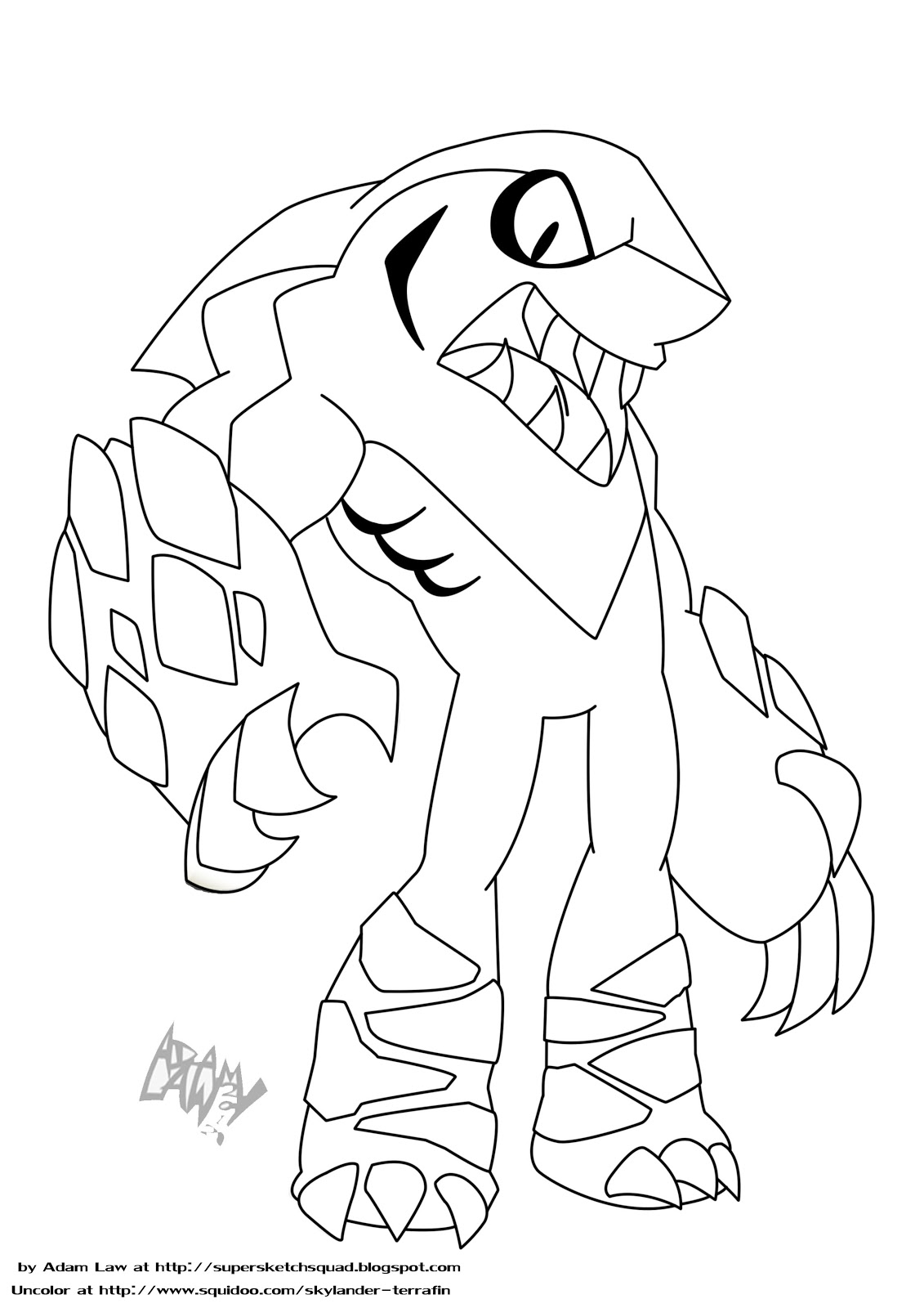 skylanders coloring pages terrafin restaurant - photo#22