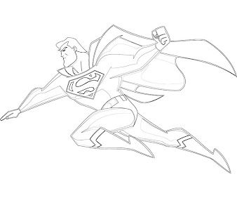 #2 Superman Coloring Page