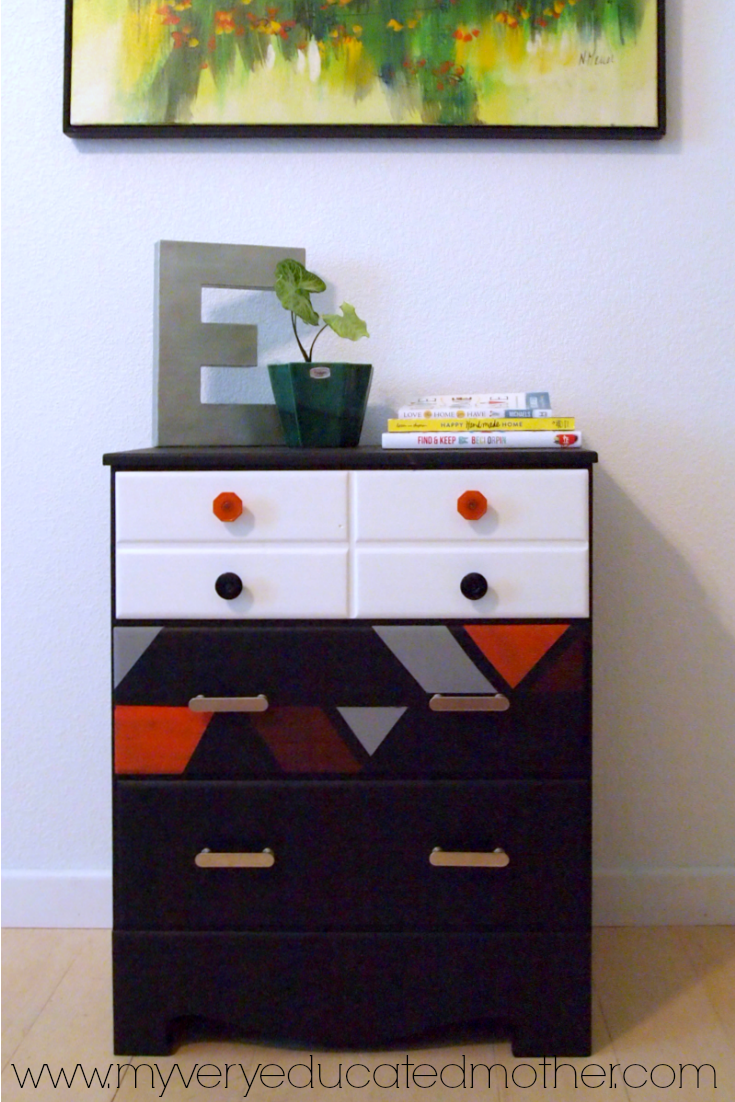 Turn your drab dressers into fun geometric pieces of art!