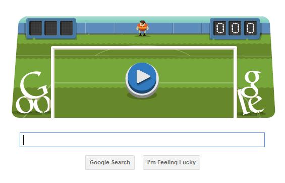 Google Olympics Football/Soccer Doodle Game