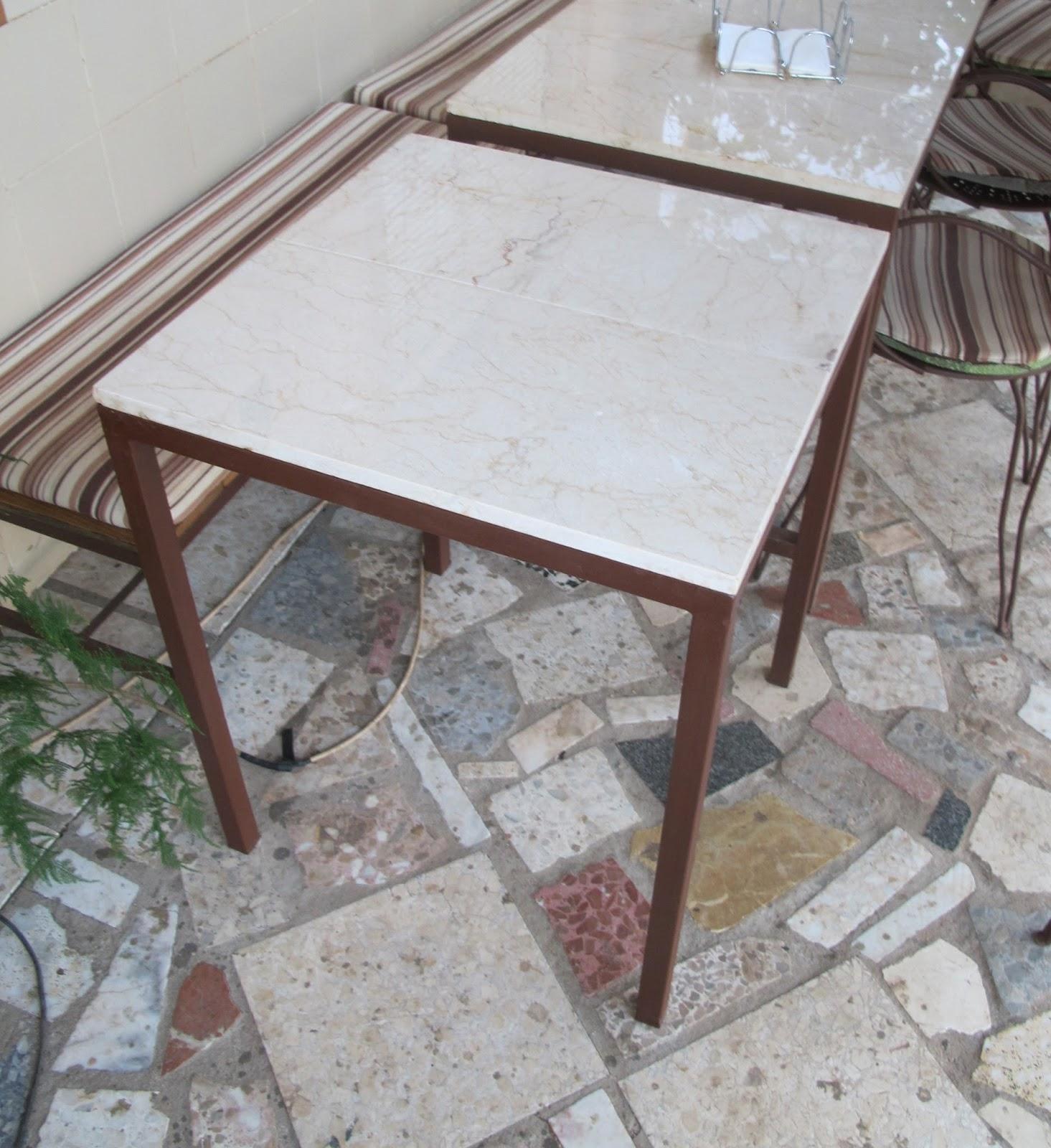 Bricomonxo mesa con piedras de m rmol y estructura de - Estructuras para mesas ...