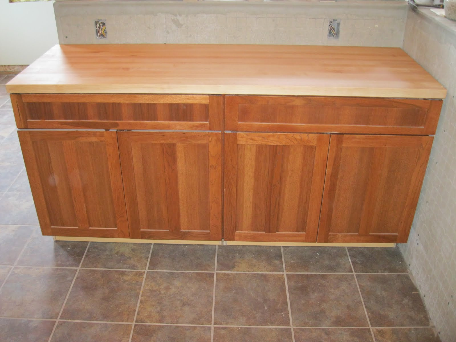 tile borders and grouting kitchen base cabinets Stonehaven