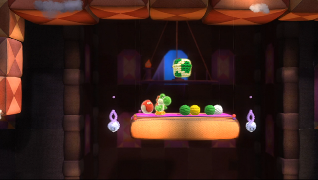 Yoshi's Woolly World idle animation Nintendo Treehouse Live haunted mansion