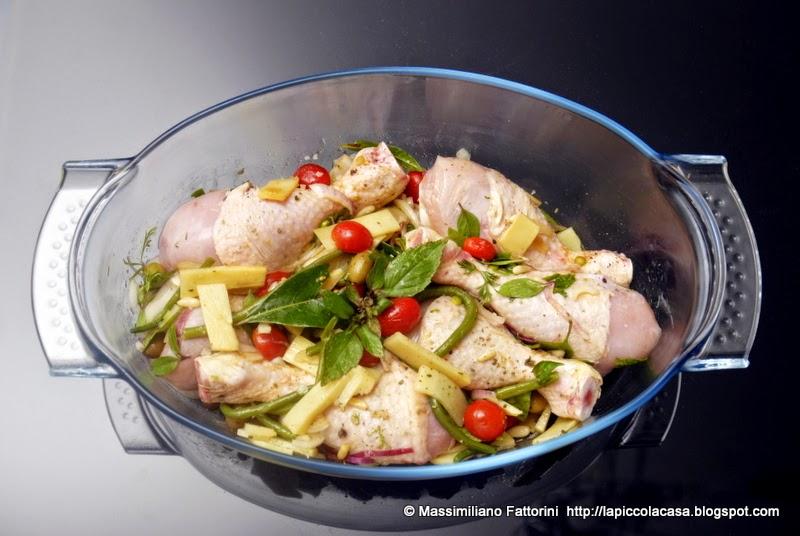la piccola casa: cucinare con il forno: gustose cosce di pollo con ... - Cucinare Erbette