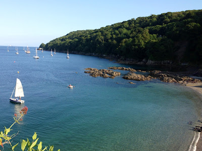 Cawsand bay, beach, cornwall, summer time, boats, boating, view, england, sunshine