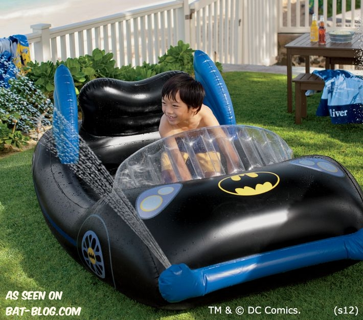 bat blog batman toys and collectibles new batmobile swimming pool by pottery barn kids