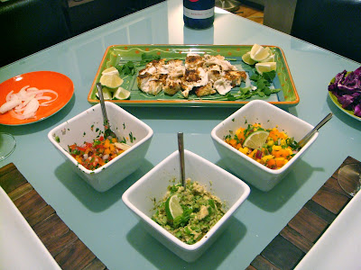 Fish taco setup