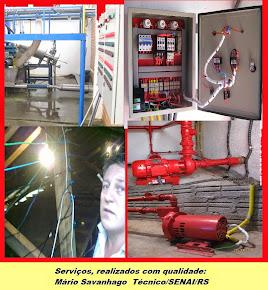 Serviço de eletro hidráulico, com técnico formado SENAI/FIERGS.