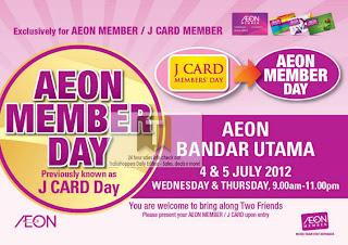 AEON MEMBER Day Bandar Utama 2012