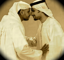 Qatari greetings but you are not supposed to use your lips when you kiss but it is only supposed to be cheek to cheek touch m4hsunfo