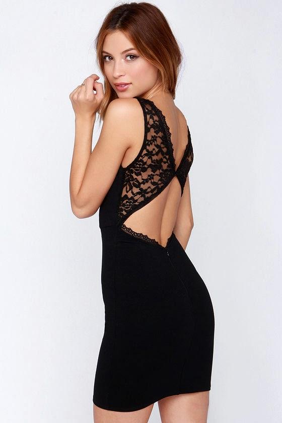 Modernos vestidos de fiesta con encaje