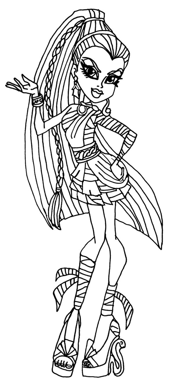 Monster High dibujos para imprimir y colorear: Cleo del Nilo