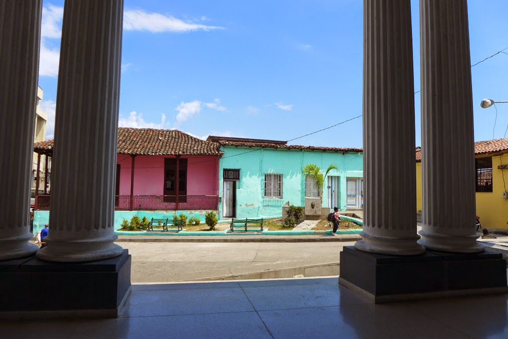 Santiago de Cuba Museo Bacardi looking out from entrance