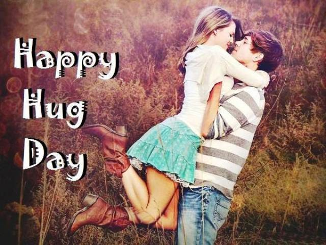 happy hug day sms wallpaper