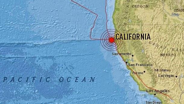 Epicentro sismo 5,7 grados en el Norte de California, el 28 de Enero 2015