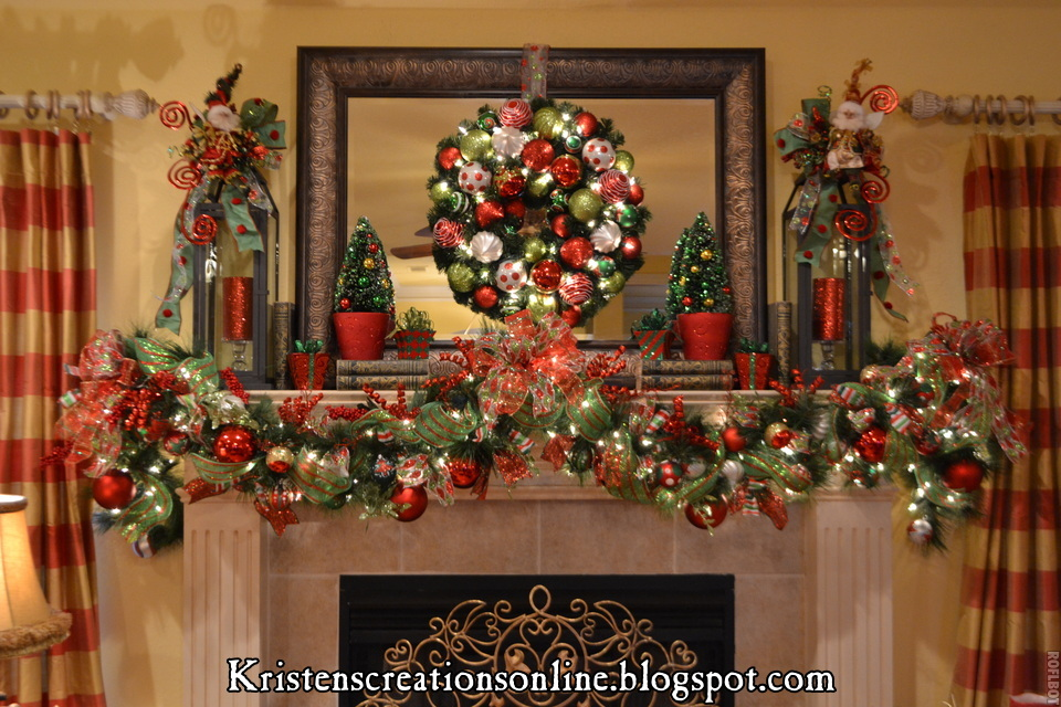 Kristen 39 s creations christmas mantle 2012 for Christmas mantel decorations garland