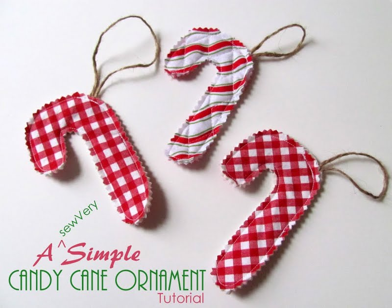 Sewvery a simple candy cane ornament tutorial