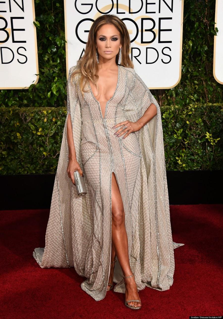 Jennifer Lopez en los Globos de Oro 2015