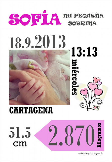 Lámina para recién nacida