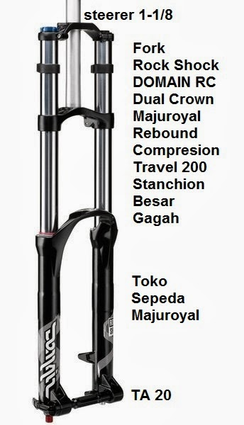fork rock shox domain rc travel 200 dual crown