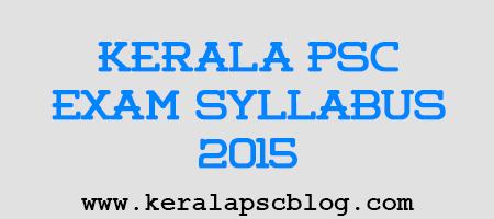 Kerala PSC Malayalam Stenographer Exam Syllabus