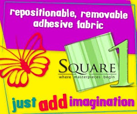 Try out new SQUARE 1 adhesive fabric