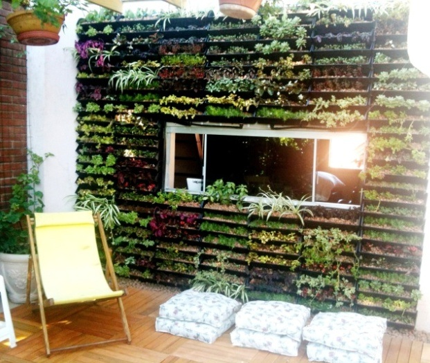 jardim vertical automatizado : Jardim Vertical imagine fazer assim
