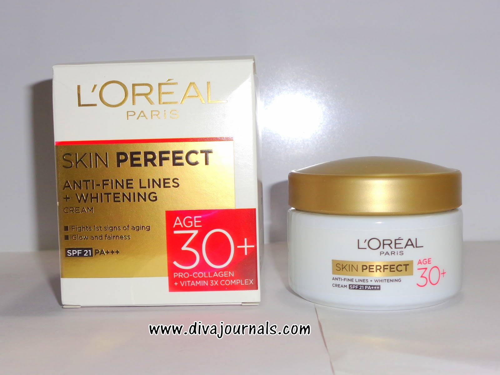 Loreal Paris Skin Perfect Anti-Fine Lines+Whitening Cream for Age 30+
