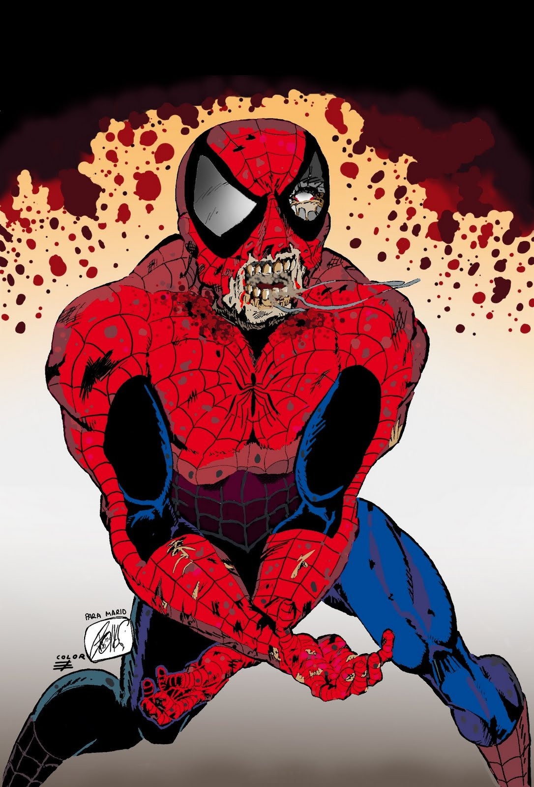 LA RED DE SPIDEY: SPIDERMAN-ZOMBIE AHORA EN COLOR!!