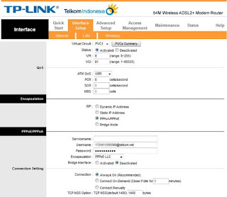 Cara setting modem speedy TP Link