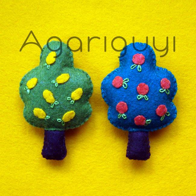 Agariguyi complementos de fieltro arboles frutales de - Arbol de fieltro ...