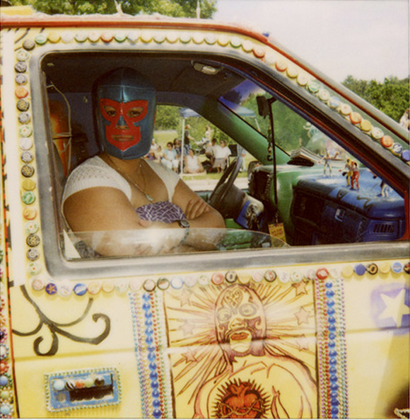 Audience Survives Luchador Pile Driver at Houston Art Car Parade